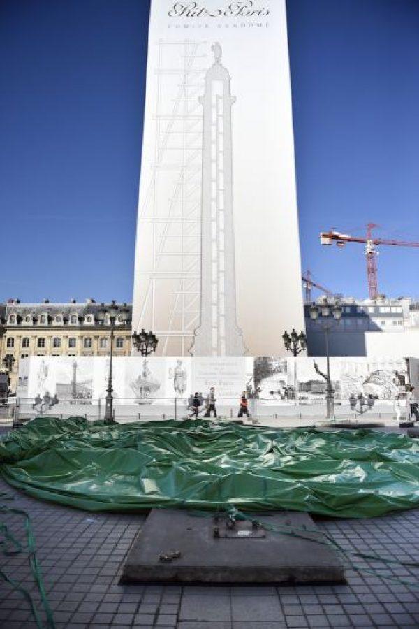 La obra había sido colocada en el lugar como parte de la Feria Internacional de Arte Contemporáneo. Foto:AFP