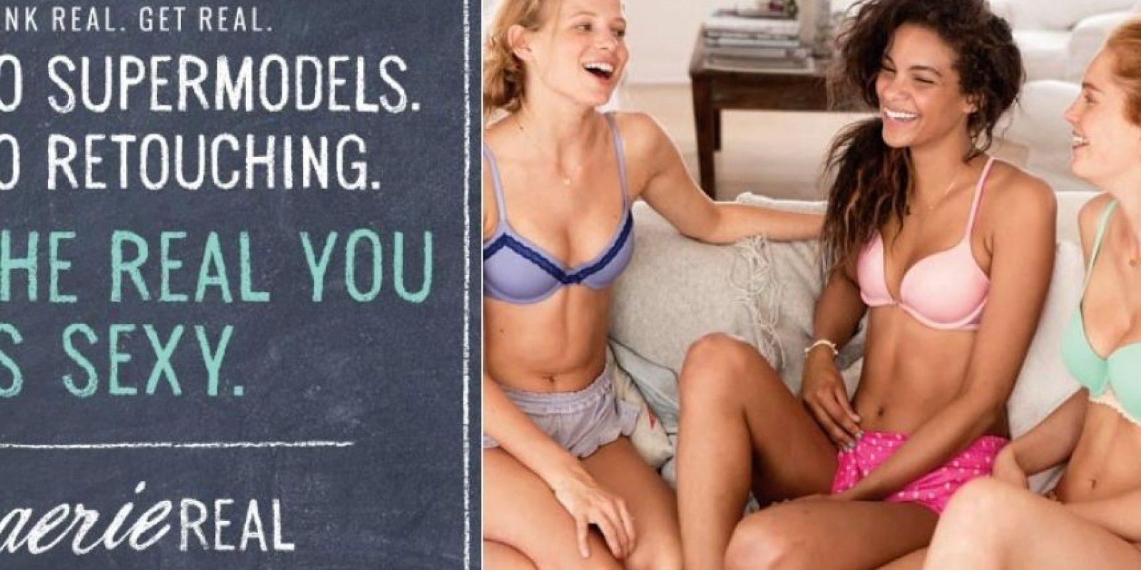 """""""La verdadera tú es sexy"""", dice la campaña de Aerie, la línea de lencería de American Eagle Foto:Aerie.com"""