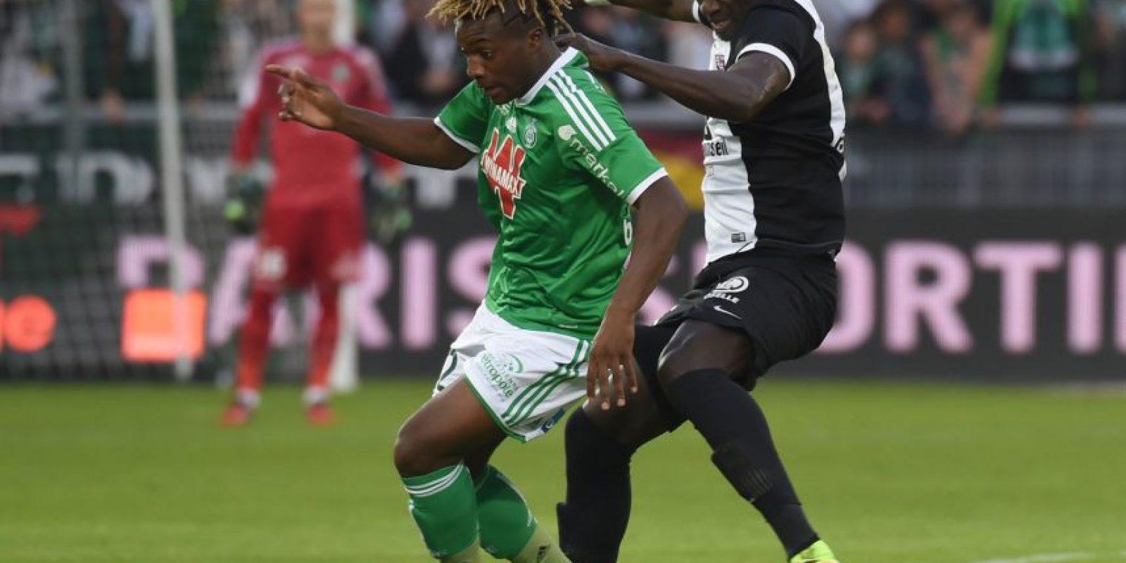 38. Allan Saint-Maximin. Delantero de 17 del Saint-Etienne que con su fuerza y velocidad ya llama la atención en la Ligue 1 Foto:Getty