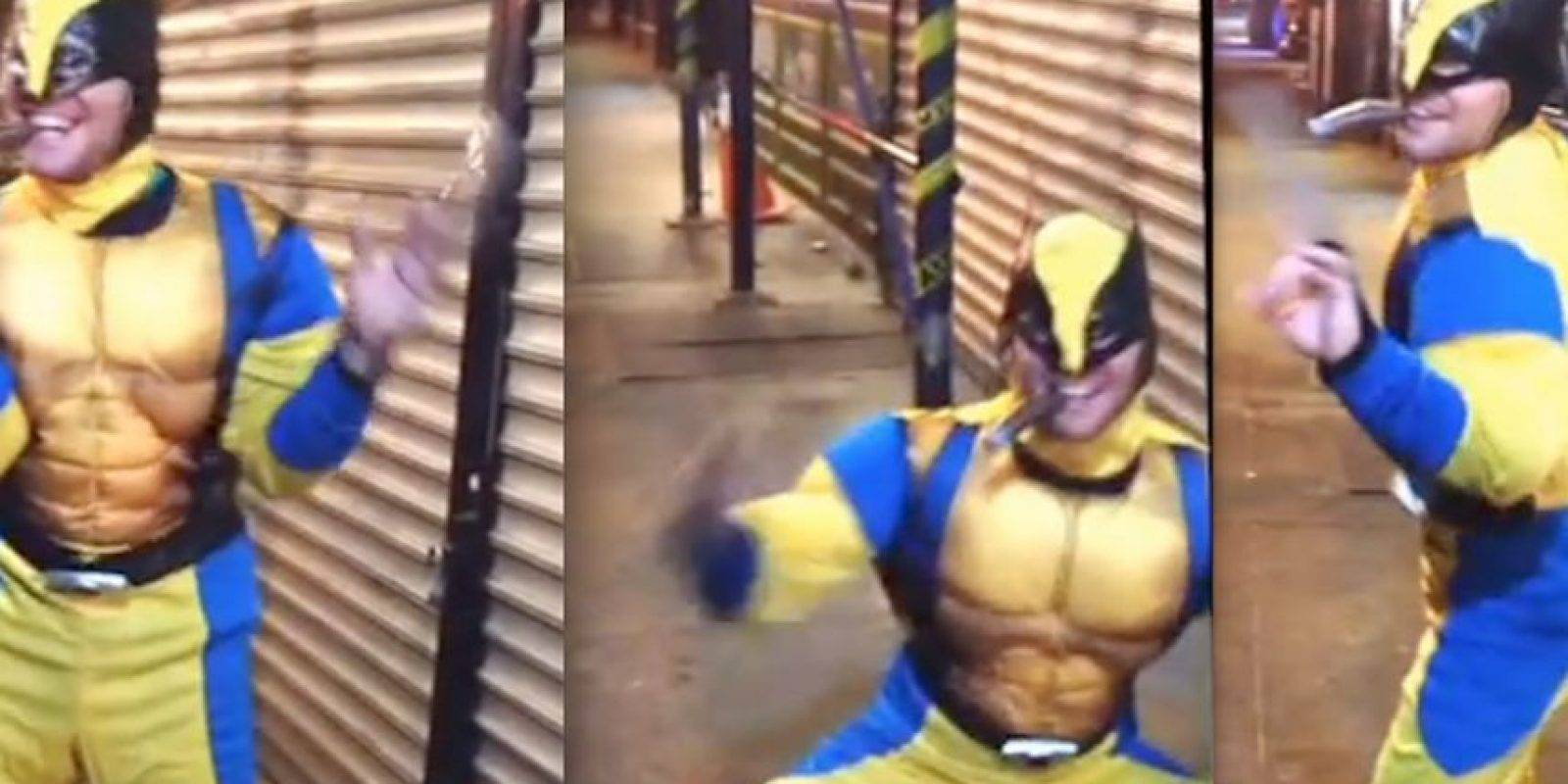 """Wolverine bailando ""Single ladies"" de Beyoncé Foto: YouTube/The Sunnies"