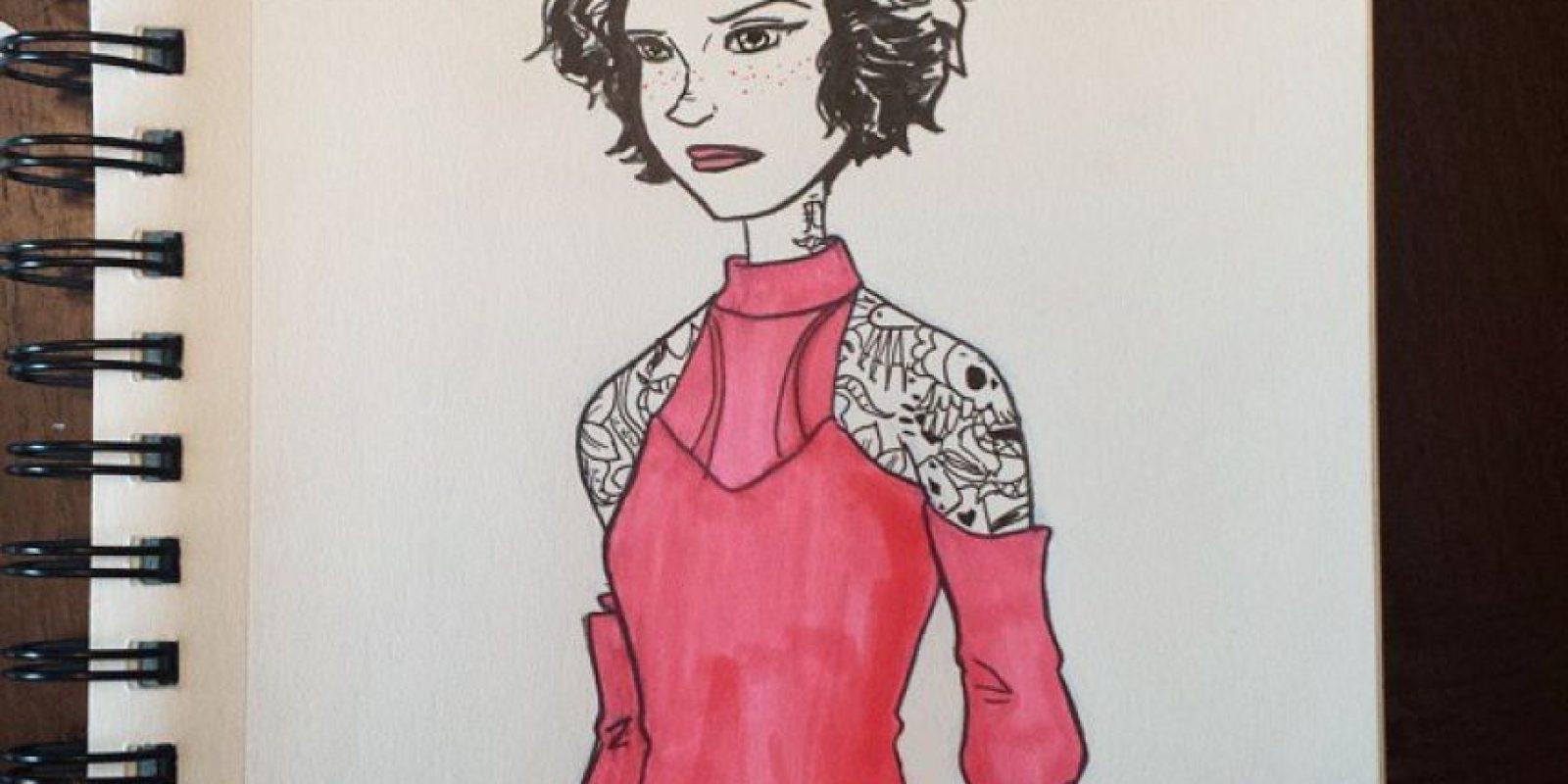 """(""""Pink"""", que significa rosado, cambia por """"ink"""", que significa tinta): """"El crudo 'remake' de la película de los 80. Es la misma película, pero tiene más tatuajes""""."""