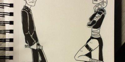 """""""El señor y la señora Sith dos jedis abandonan la orden por amor. También son capaces de lanzar rayos con las manos (porque suena divertido)"""". Foto:AustinDLight vía Imgur"""