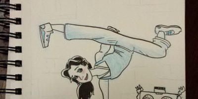 """""""Después de que una bruja transforma a su mejor amigo en una grabadora, Belle decide participar en 'France's Got Talent'. Gana"""". Foto:AustinDLight vía Imgur"""