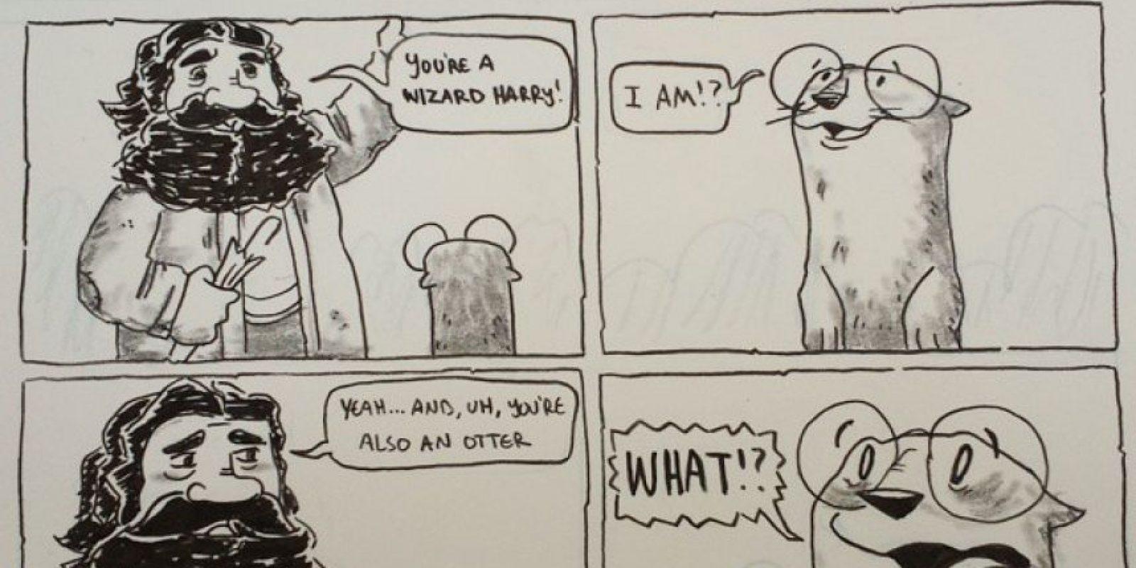 """(Potter cambia por """"otter"""", que significa nutria): """"Un pequeño niño descubre quién (y qué) es. Comienza la magia"""". Foto:AustinDLight vía Imgur"""