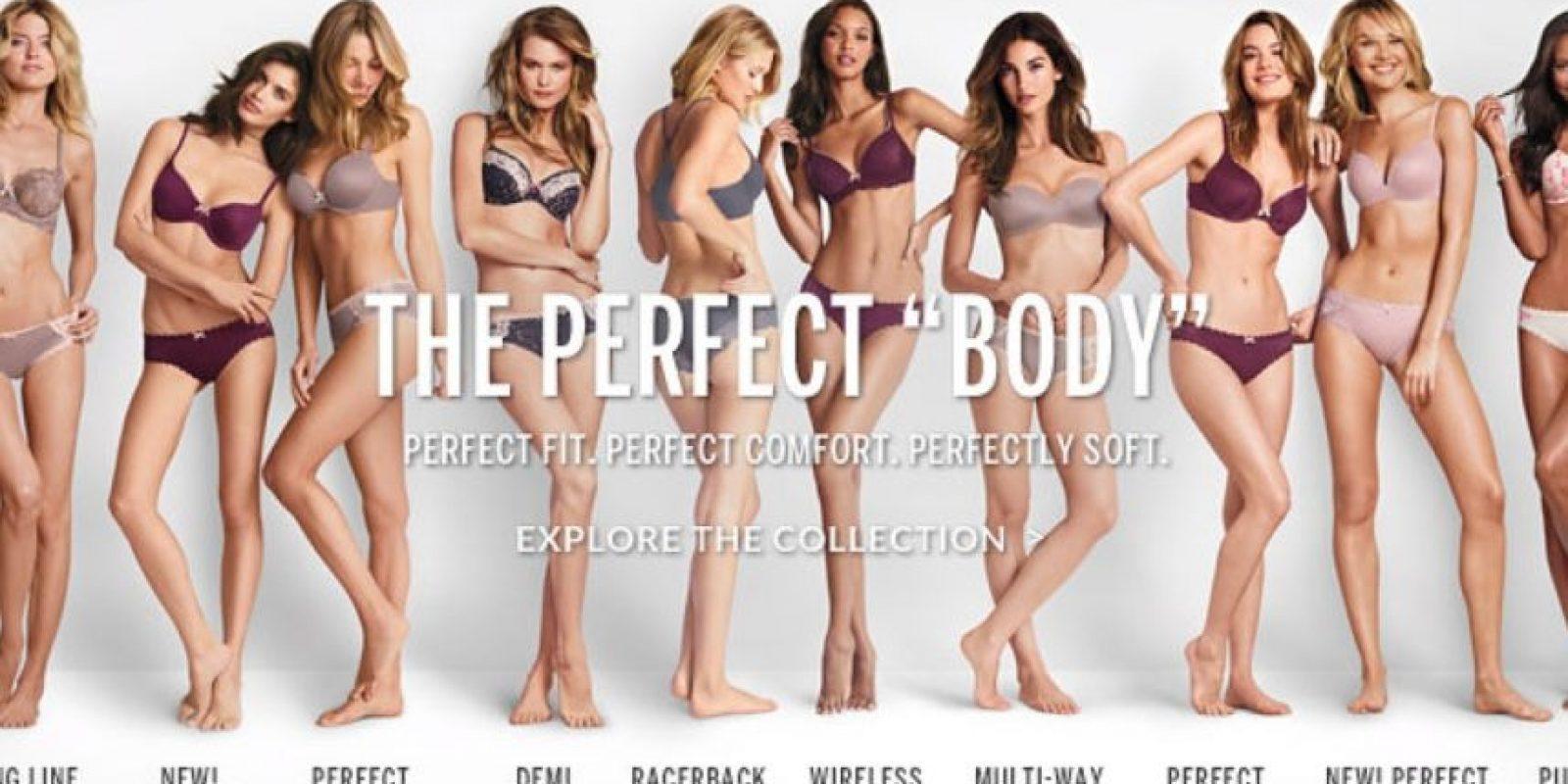 """""""El 'cuerpo' perfecto"""", dice la campaña de Victoria's Secret Foto:VictoriasSecret.com"""