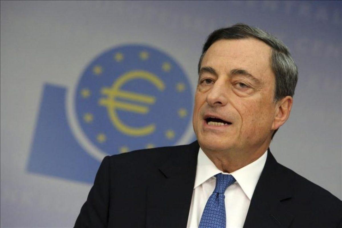 El presidente del Banco Central Europeo (BCE), Mario Draghi, durante una rueda de prensa en Fráncfort, Alemania, hoy, jueves 6 de noviembre de 2014. EFE