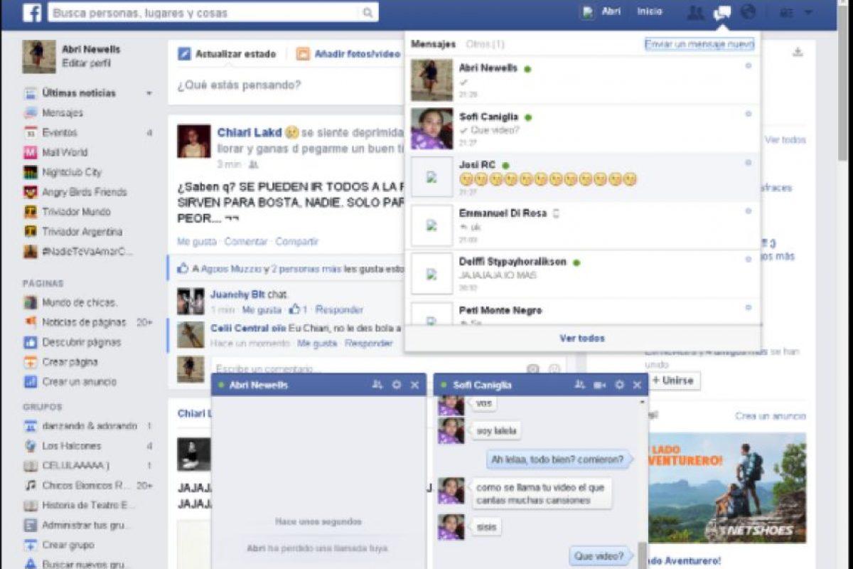 En 2008, Facebook lanzó su chat, para que los usuarios de esta red social intercambiaran mensajes instantáneos entre dos o más personas. Foto:Twitter