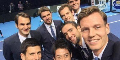 Los tenistas que competirán en el Torneo de Maestros. Foto:twitter.com/tomasberdych