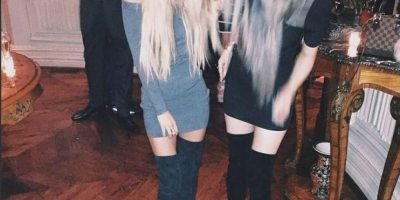 Detrás de esa larga cabellera esta Kylie Jenner (derecha) Foto:Instagram @kyliejenner
