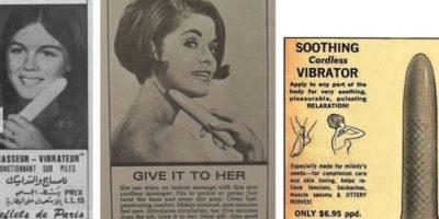 Para los años 60, los vibradores ya eran fálicos. Aunque se promocionaban para otras cosas. Foto:Gurl