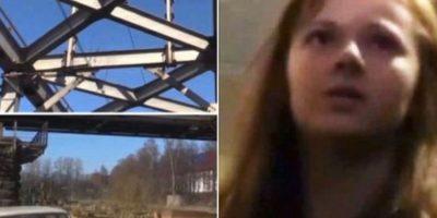 Xenia Ignatieva, adolescente rusa, se quería tomar un selfie en un puente de San Petersburgo, pero perdió el equilibrio y se sujetó a unos cables que la terminaron electrocutando. Foto:Twitter