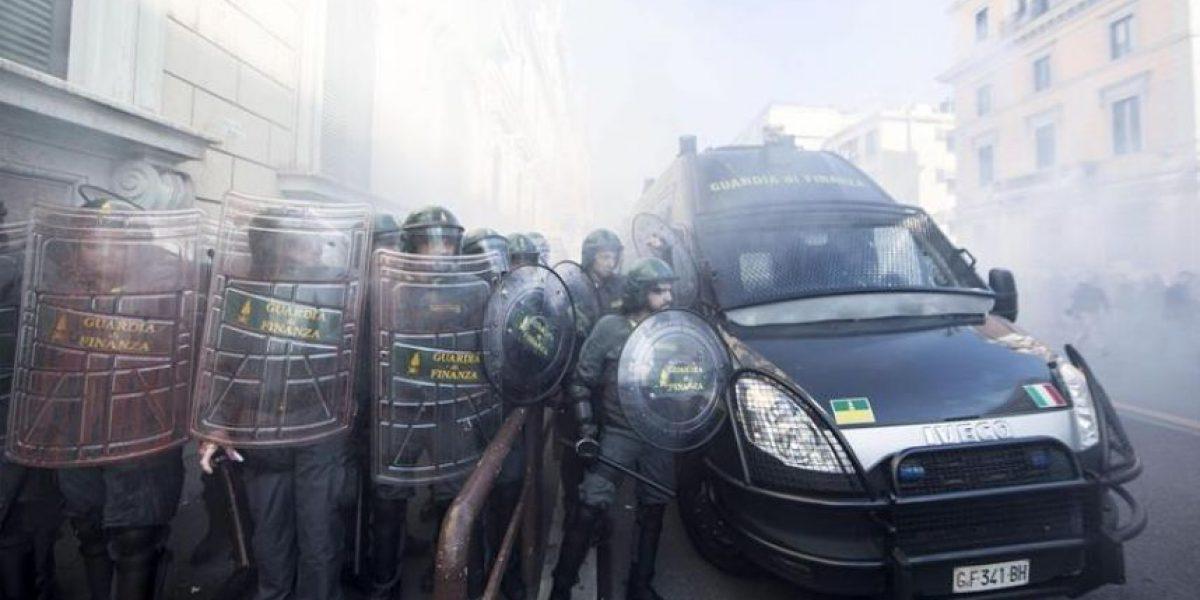 Jornada de protestas en Italia contra las políticas, principalmente económicas, de Renzi