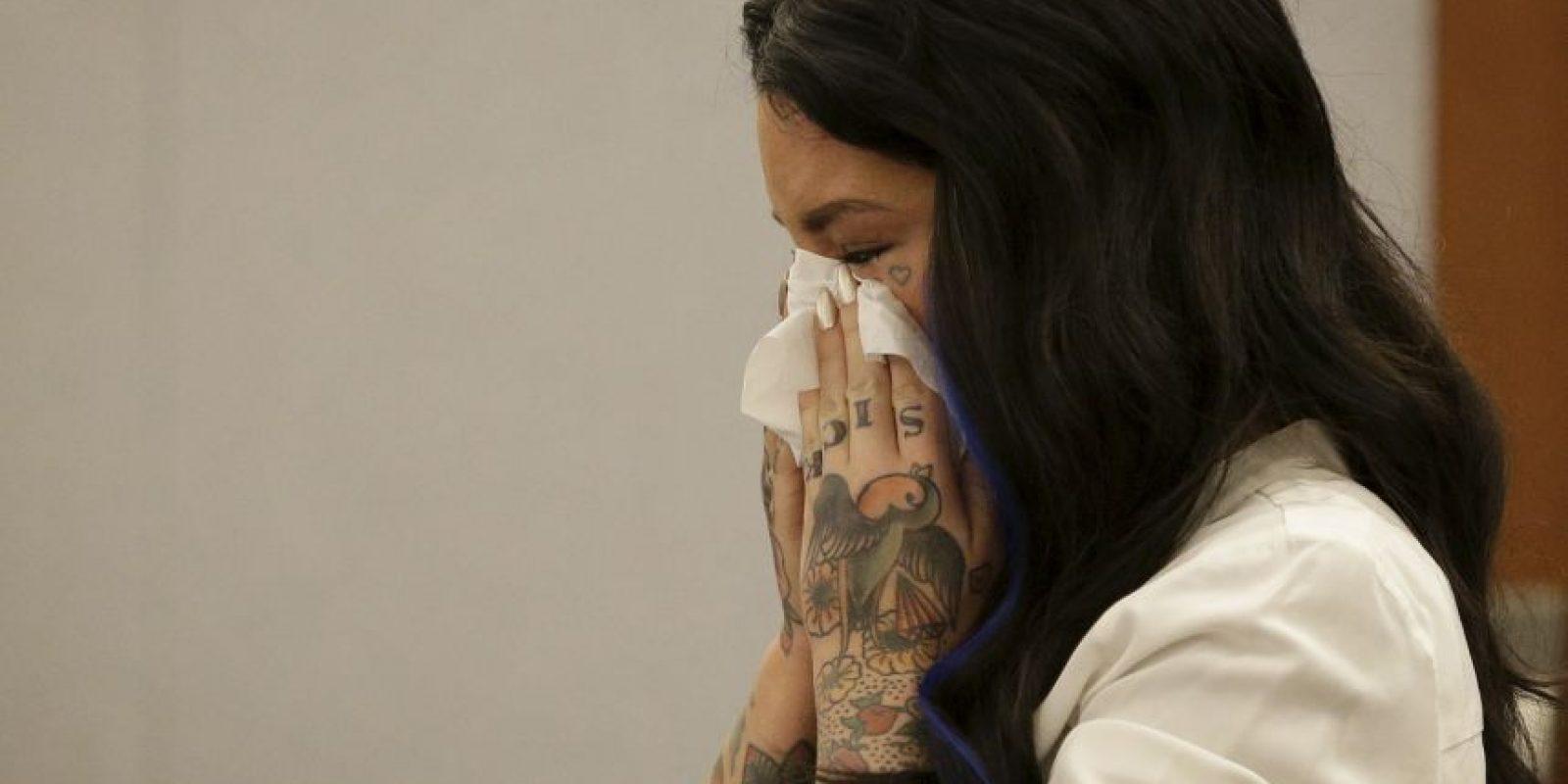 Ella recordó los hechos de agosto pasado entre lágrimas Foto:AP