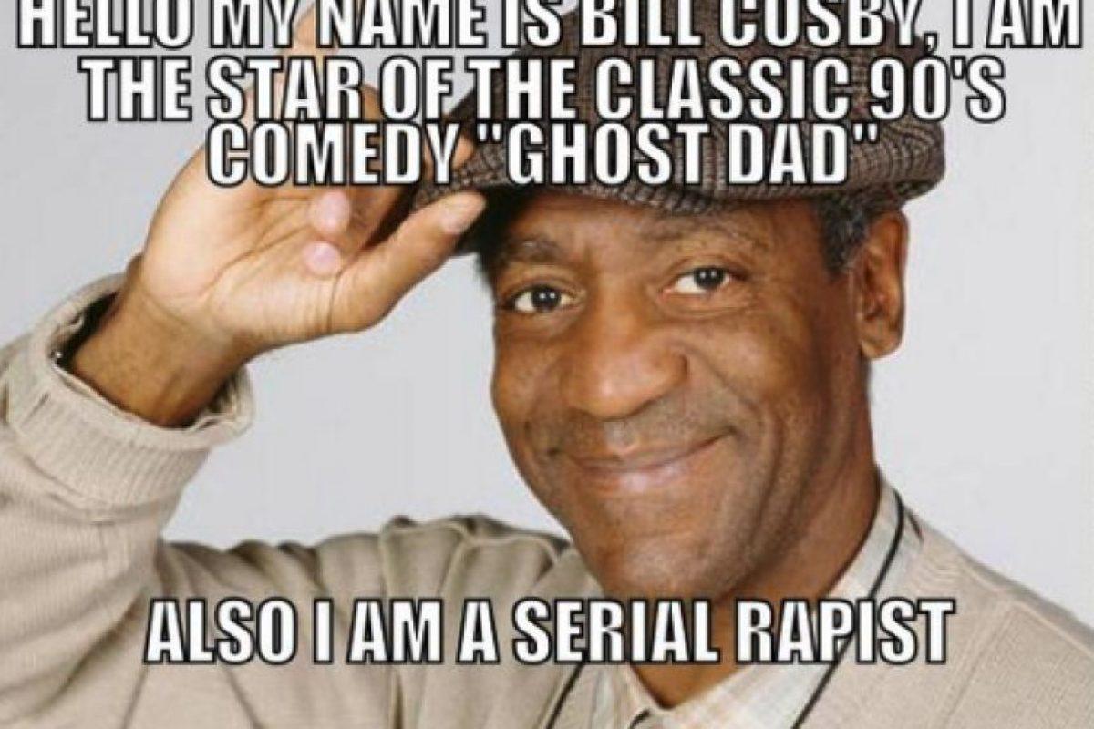 """""""Hola mi nombre es Bill Cosby, soy una estrella de la comedia de los 90 """"Ghost Dad"""" y soy un violador en serie"""" Foto:Twitter"""
