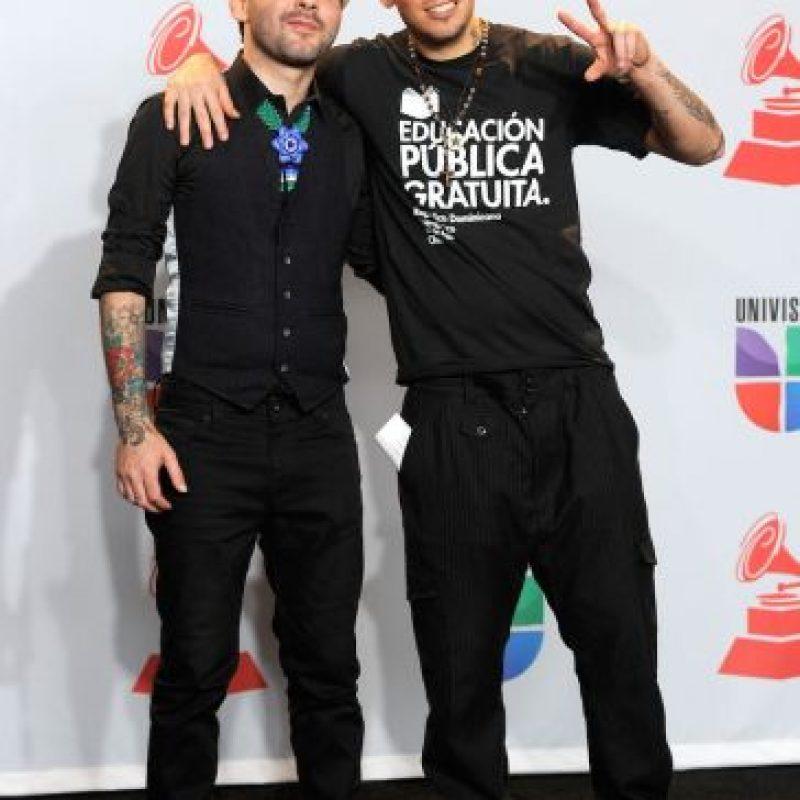 Calle 13 se manifestó en contra del gobierno mexicano Foto:Getty