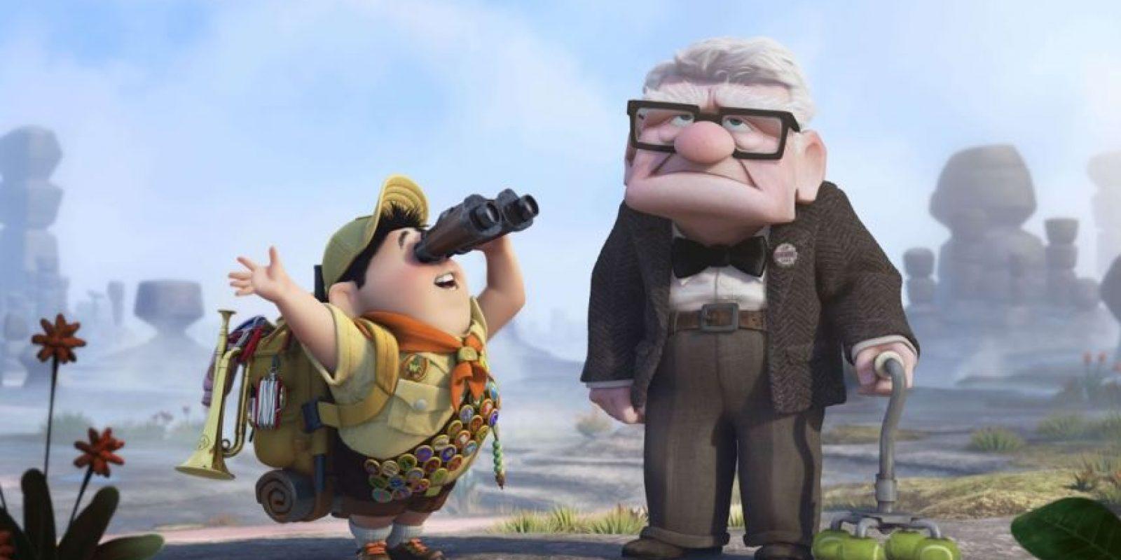 Conmovió a todos por su historia de amor con su esposa Ellie y por querer hacer su sueño Foto:Pixar