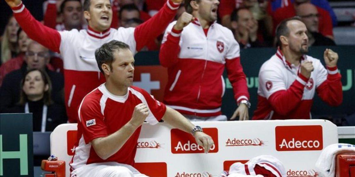 Wawrinka da a Suiza el primer punto de la final de la Davis contra Francia