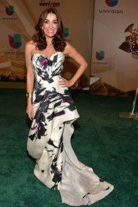 La famosa personalidad de la moda Kika Rocha, en un vestido estampado Foto:Getty Images