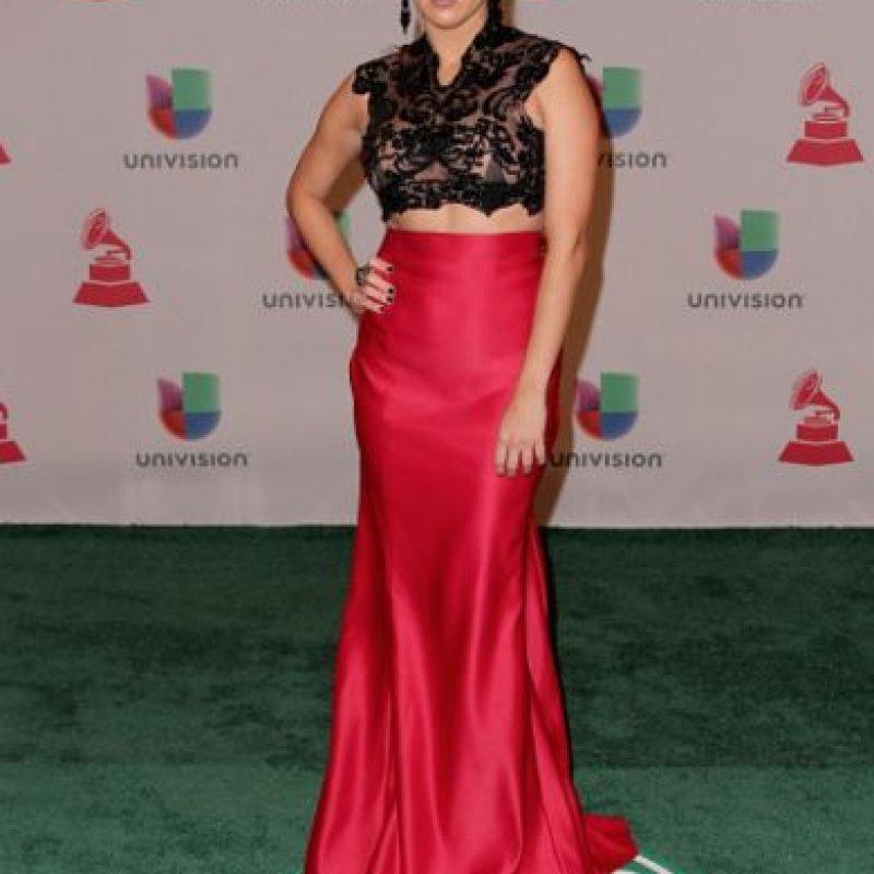 Stephanie Bradford, combinando silueta sirena y encaje Foto:Getty Images