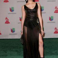 Verónica Montaño, con un vestido negro desfavorecedor Foto:Getty Images