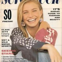 """1990, Cameron Diaz modeló para CK, Levi's y apareció en la portada de """"Seventeen"""" Foto:Seventeen"""