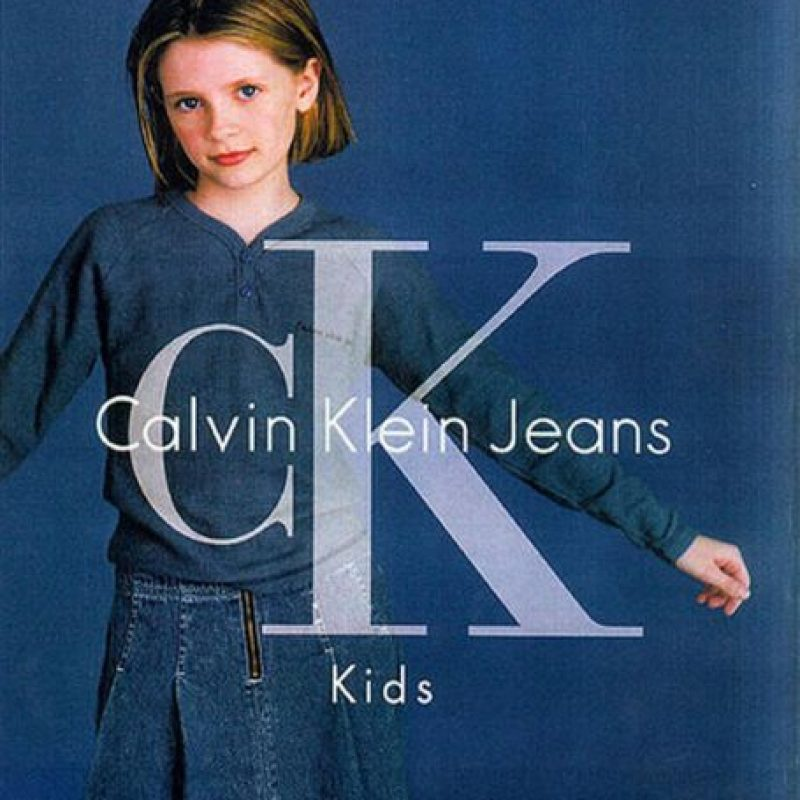 "1992, Antes de ""The OC"" Mischa Barton era la pequeña que promocionaba CK Kids Foto:Calvin Klein"