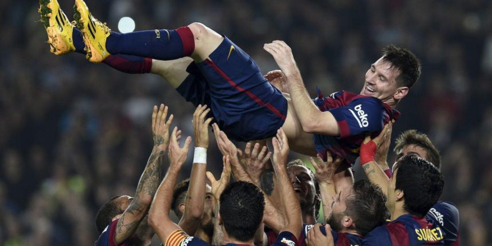 Es el máximo goleador histórico en la competencia ibérica Foto:AFP
