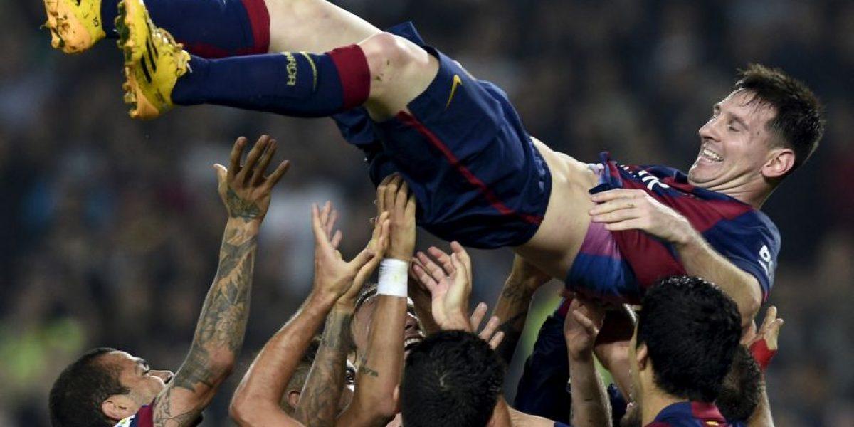 VIDEO: El emotivo homenaje del Barça a Lionel Messi tras romper el récord de Telmo Zarra