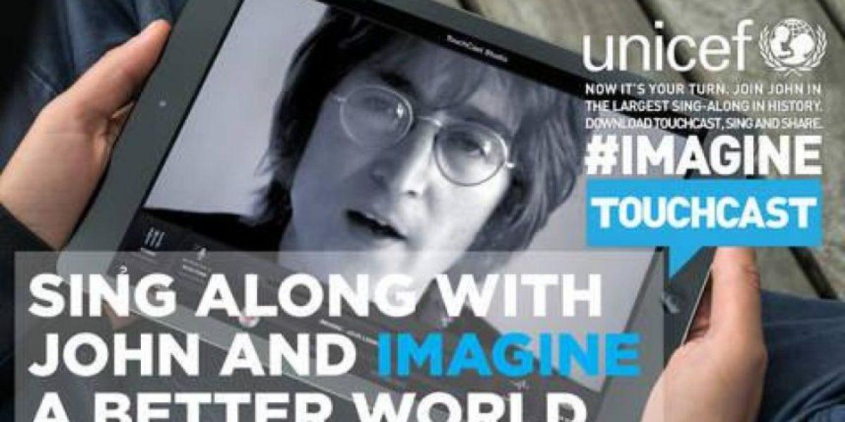 Katy Perry y David Guetta cantan con John Lennon en favor de los niños