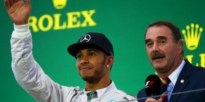 Junto a Nigel Mansell, celebrando su triunfo en el GP de Japón (ocurrió el 5 de octubre) Foto:Getty Images