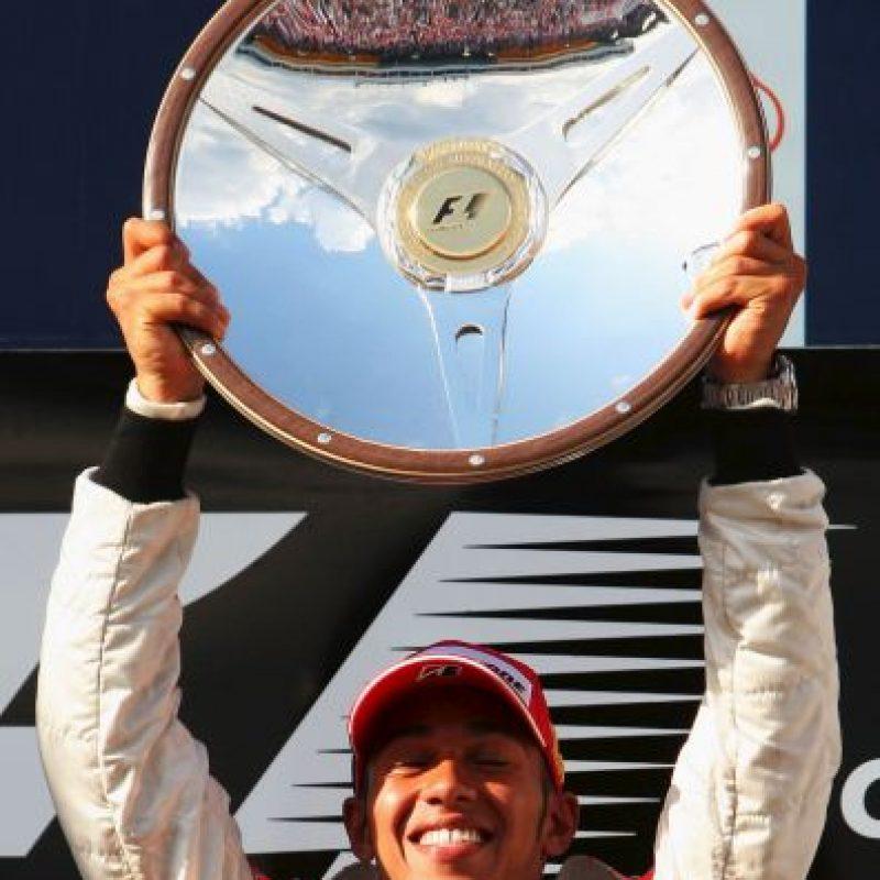 El quinto triunfo de Hamilton en la F1: el 16 de marzo de 2008 en el GP de Australia Foto:Getty Images