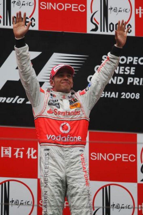 El 19 de octubre de 2008 Hamilton se quedó con el GP de China Foto:Getty Images