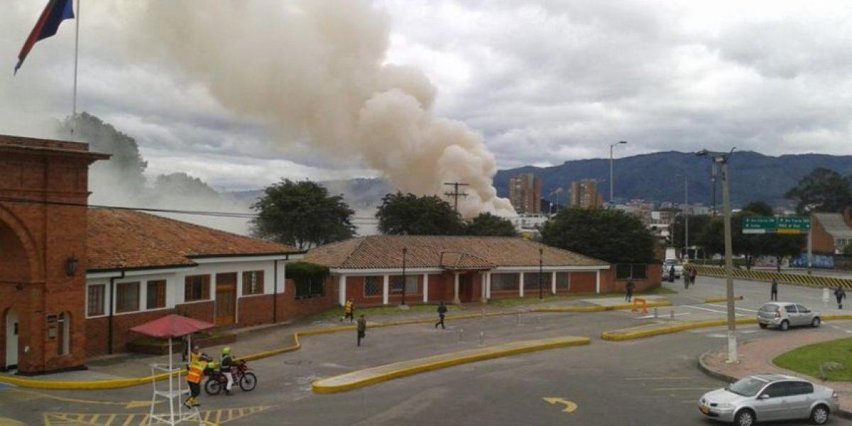 Se prenden las alarmas por humo en Escuela Militar de Bogotá