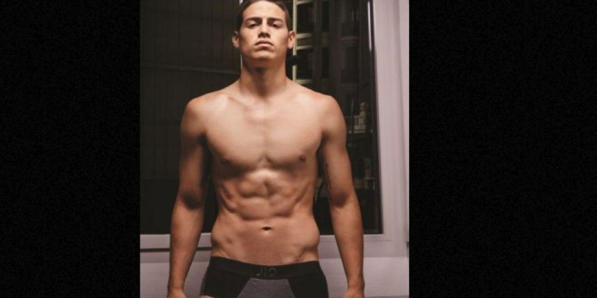 FOTOS: ¡Sexy!  La sorprendente transformación del cuerpo de James Rodríguez en el Real Madrid