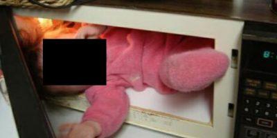 Los que pusieron al niño dentro del microondas Foto:Oddee