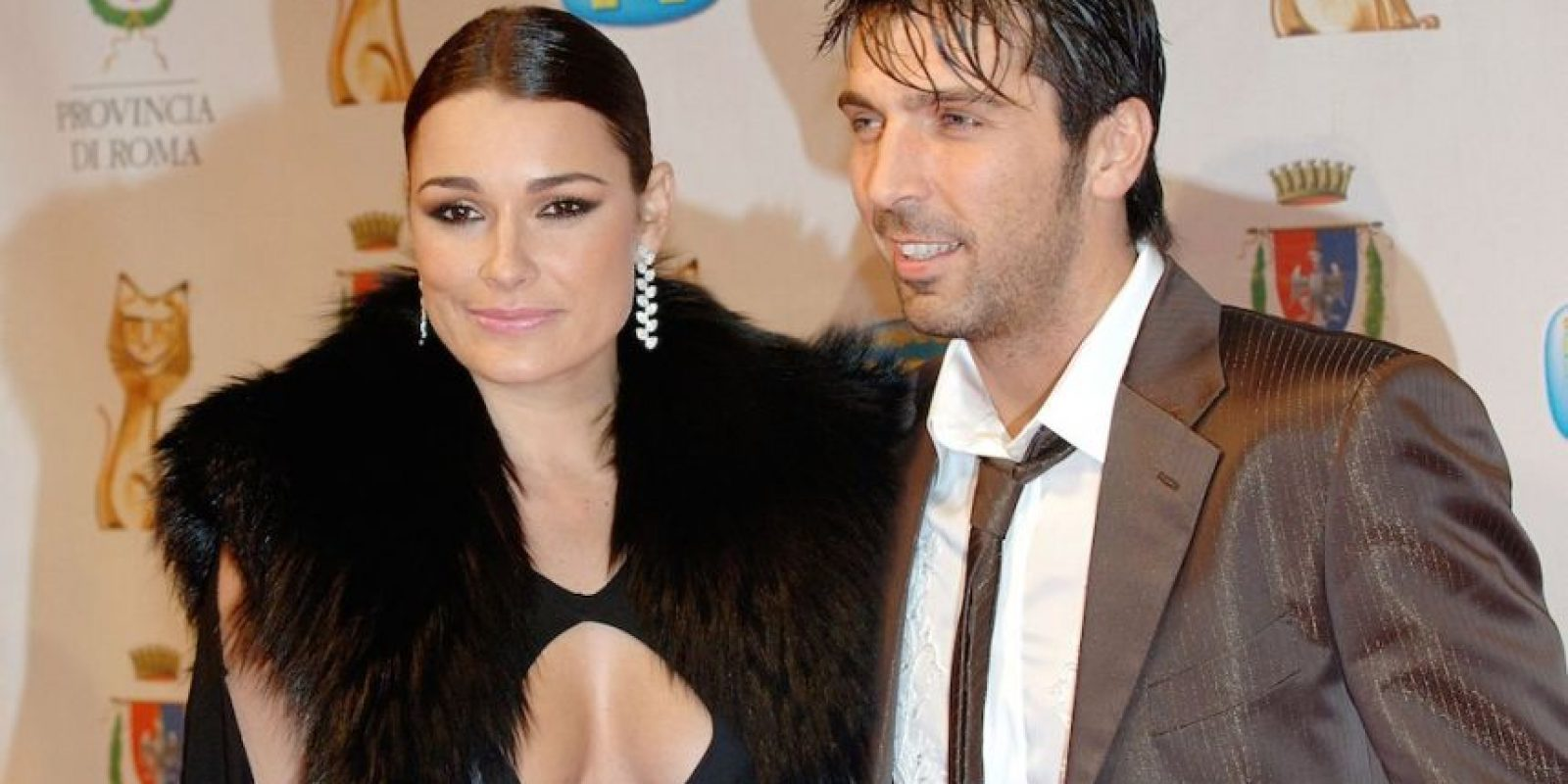 Gianluigi Buffon y Alena Šeredová. Foto:Getty Images