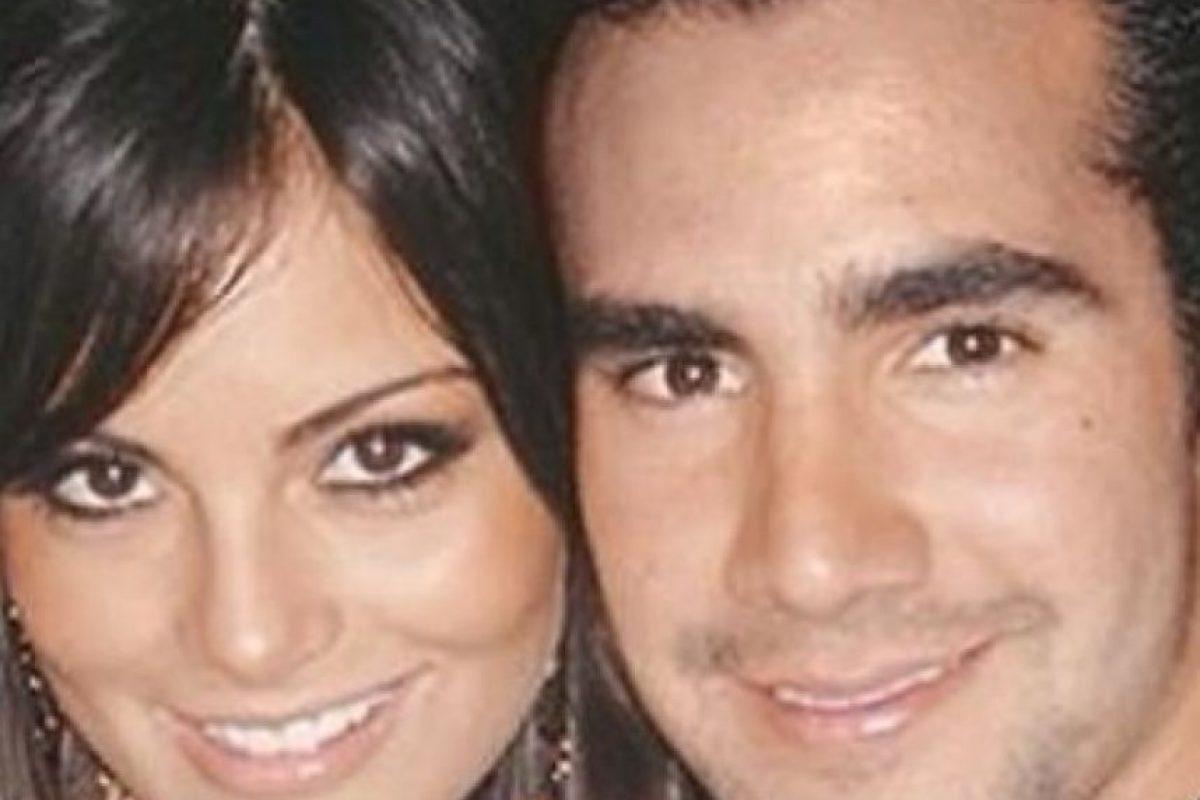 El recientemente fallecido Hugo Sánchez Jr. y Jimena Navarrete Foto:Twitter