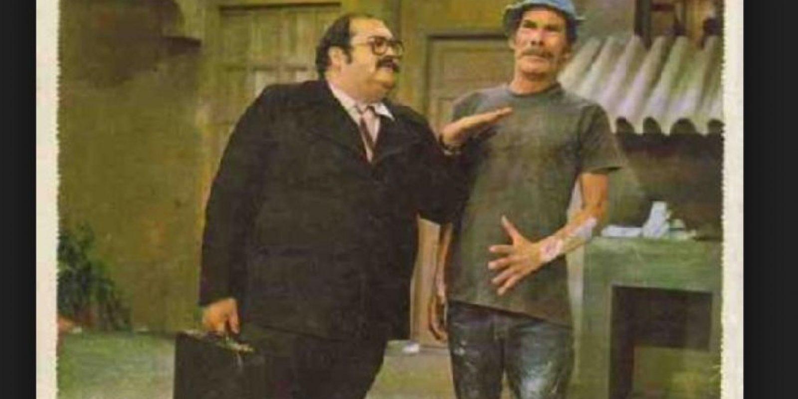 """Vivar tuvo severos problemas de salud por su peso. En 1992 tuvo que retirarse de """"El Chavo"""" por causa de esto. Foto:Tumblr"""