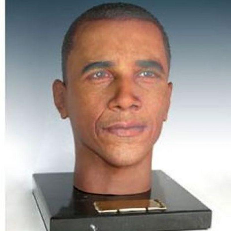 """Este busto con la imagen del presidente Obama es una muestra de los rostros impresos en 3D de """"Cremation Solutions"""" Foto:cremationsolutions.com"""