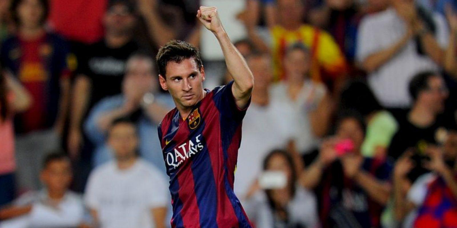 Messi rompió el récord como máximo goleador de la Champions Foto:Getty