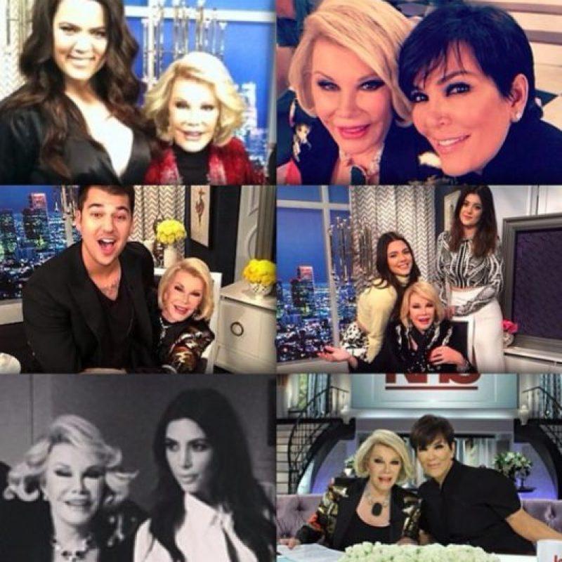 Aquí las Kardashian recordando a Joan Rivers Foto:Instagram/Kris Jenner
