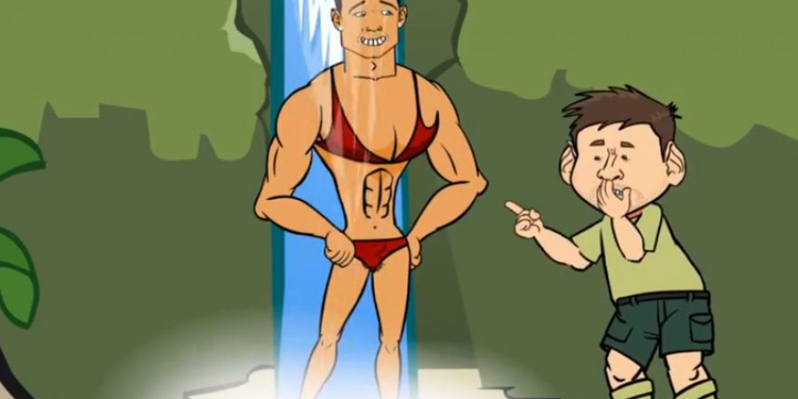 Messi ve a Ronaldo en bikini Foto: Youtube: FREEbets