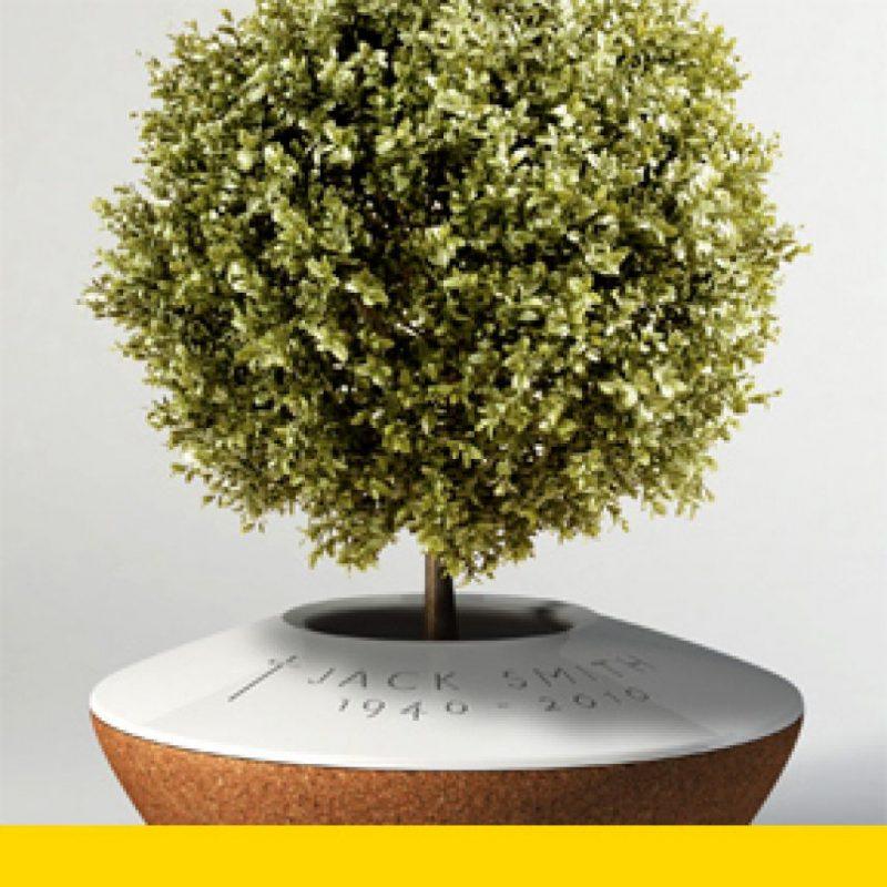 Una urna que funciona como maceta de una planta. Foto:poetreecreations.org