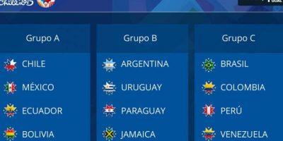 Así quedaron los grupos de la competencia Foto:Copa América