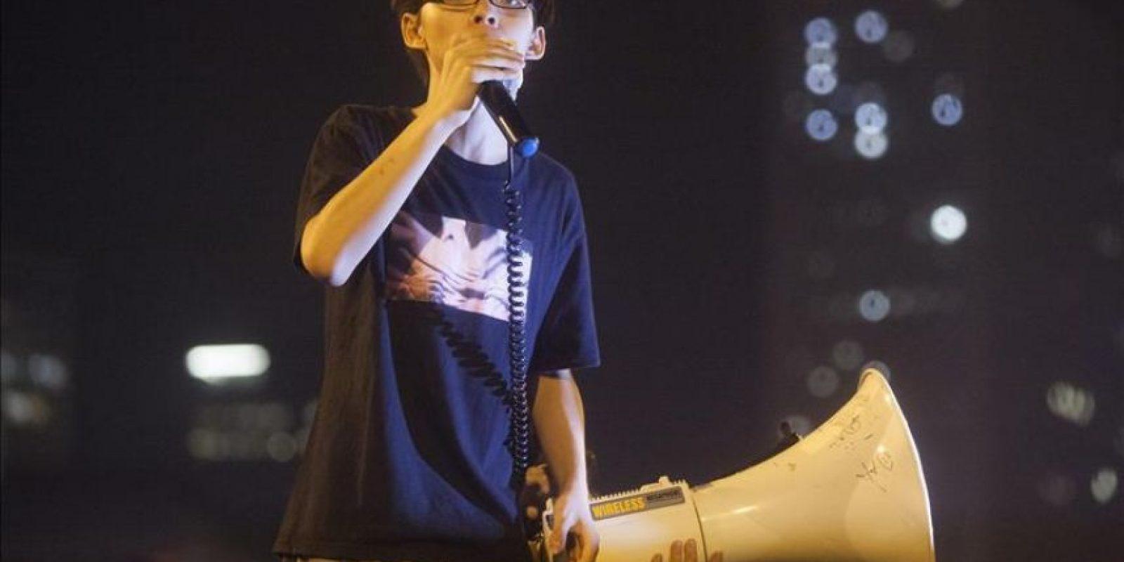 Joshua Wong, el joven líder activista del movimiento prodemocracia de Hong Kong. EFE/Archivo