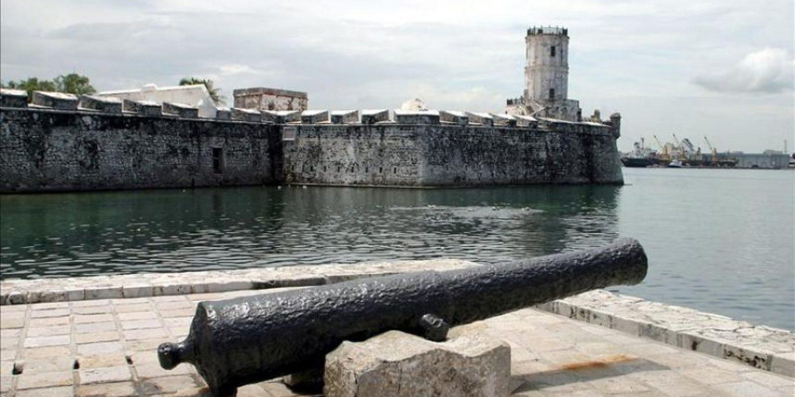 Aspecto de la fortaleza de 'San Juan de Ulua' que resguarda el puerto de Veracruz desde hace 500 años donde los españoles lo construyeron para defender los tesoros del puerto de los piratas. EFE/archivo