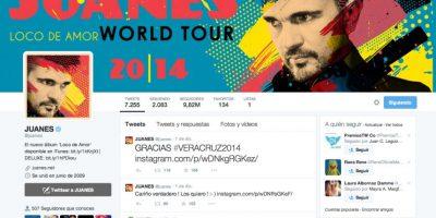 2. Juanes (@juanes) – 9.815.118 seguidores Foto:Twitter