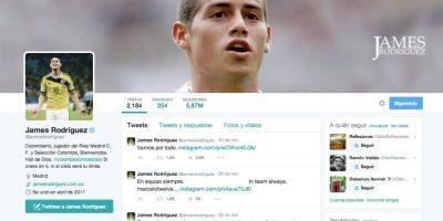 James Rodríguez (@jamesdrodriguez) – 5.866.619 seguidores Foto:Twitter