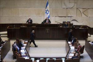 Vista general del Parlamento o Knesset durante la lectura preliminar del proyecto de ley para la disolución de la legislatura Parlamento y la convocatoria de elecciones anticipadas, en Jerusalén (Israel), hoy. EFE