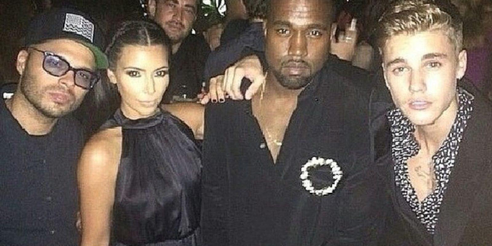 Kanye West y Kim Kardashian Foto:Instagram: @justinbieber